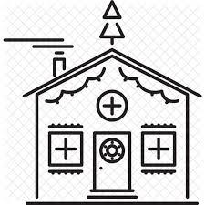 house decoration christmas holidays new year winter icon