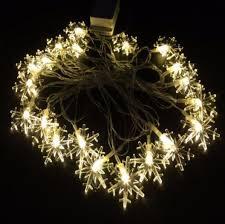 snowflake string of lights christmas snowflake string lights decoration the atrio