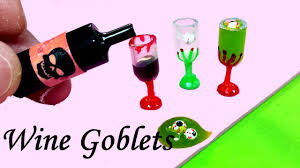 halloween diy miniature wine glasses goblets realistic slime