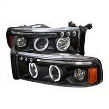 2001 dodge ram headlights 01 dodge ram black dual halo projector led headlights
