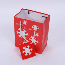 christmas paper bag yixin pack industry limited paper bags