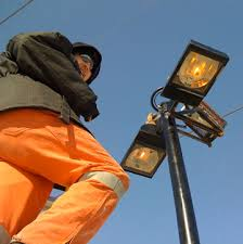 utility pole light fixtures tait electric industrial commercial cabling fibre bucket truck