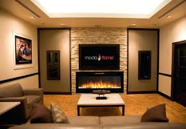 paramount kit faux stone electric fireplace clarington wall mount