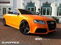 audi orange color amazing color combo orange audi s5 sitting on black adv1 rims
