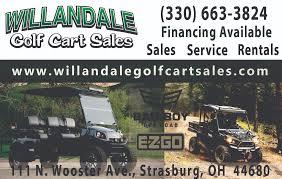 willandale golf cart sales strasburg ohio mobilerving