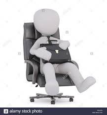 Cartoon Armchair Faceless Cartoon Man Wearing Tie Sitting In Boss Office Armchair