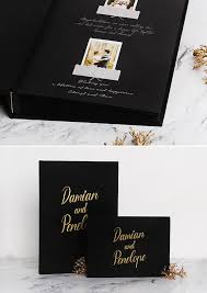 guest book with black pages wedding album black gold lettering guest book black pages