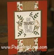 thanksgiving 2014 cards stampin u0027 up give thanks acorns handmade card u2013 paper into love