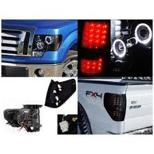 spec d tail lights spec d tuning ford f150 glossy black smoke projector halo led