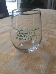 high school reunion favors personalized class reunion favors 15 ounce glasses class