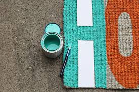 Painting An Outdoor Rug Try This Update Your Welcome Mat A Beautiful Mess