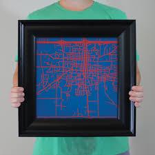 Louisiana Tech Map by Louisiana Tech University Campus Map Art City Prints