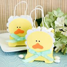 favor bags baby ducky favor bag yellow baby duck shower favor bags