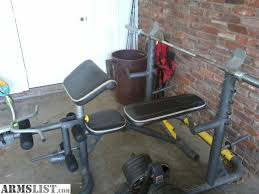Home Gym Weight Bench Armslist For Sale Golds Gym Weight Bench With 295 Pounds Of Weight