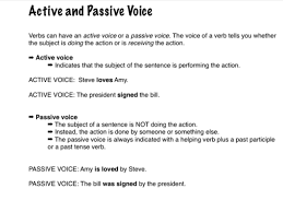 Change Active Voice To Passive Voice Worksheets Active And Passive Voice English Grammar Education Showme