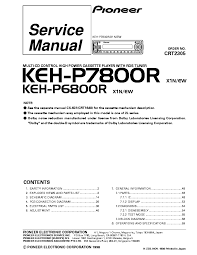 pioneer keh p7800r p6800r service manual download schematics