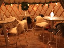 yurt alert the standard u0027s winter garden is really in tents