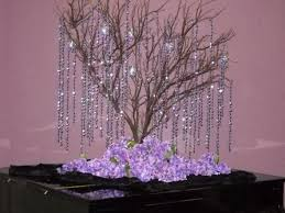 hanging crystals tree centerpeices with hanging crystals weddingbee