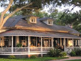 Country Style House With Wrap Around Porch Homes Inside Metal Building Homes House Plans Wrap Around Porches