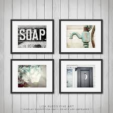 Rustic Bathroom Accessories Sets by Rustic Bathroom Decor Set Of 4 Prints Or Canvas Art Bathroom