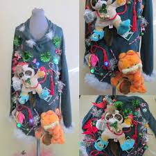 light up ugly christmas sweater dress hysterically fun mad crazy kitty cat lovers tacky ugly christmas