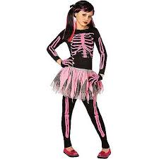 Boys Halloween Costume Pink Skeleton Child Halloween Costume Walmart