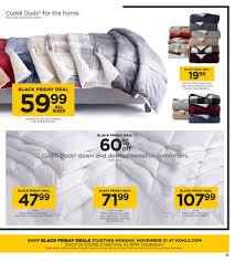 black friday down comforter kohls black friday ad 2017 and thanksgiving deals