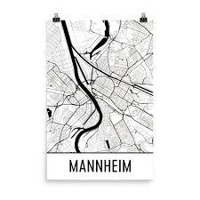 Mannheim Germany Map by Mannheim Street Map Poster Mannheim
