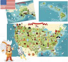 Map Of Big Island Hawaii Cartoon Map Of Usa Stock Vector Art 147726554 Istock
