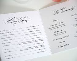 Sample Of Wedding Programs Ceremony 100 Sample Wedding Reception Programs Typical Wedding