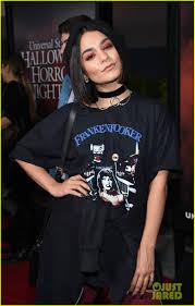 halloween horror nights chance actress vanessa hudgens goes goth chic at universal studios u0027 halloween