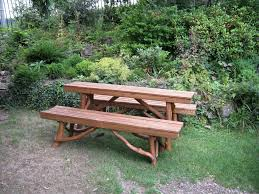 picnic table with separate benches picnic table with separate benches coppice creations