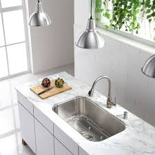 Faucetcom KBU In Stainless Steel By Kraus - Kraus kitchen sinks reviews