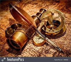 Ancient Map Vintage Items On Ancient Map Image