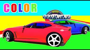 cartoon sports car learn color sports cars w superheroes cars cartoon for kids