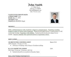 simple format of resume sle resume format resume template ideas