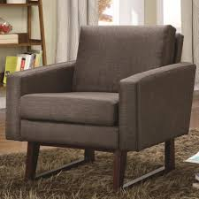 accent chair with dark gray fabric cover plus wingsback and arm