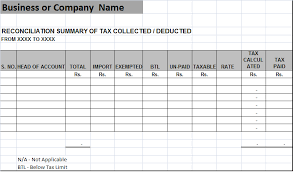 template for summary report tax reconciliation summary report template free report templates
