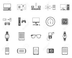 Smart Devices by Icons Set Of Smart Devices Modern Wearable Electronics Audio