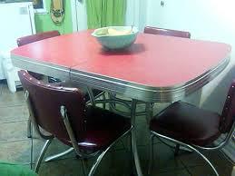 Red Dinette Sets Vintage Kitchen Treasures Retro Renovation - Chrome kitchen table