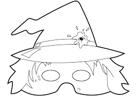 witch face coloring pages omeletta