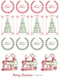 free printable vintage christmas stickers graphic fairy