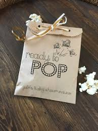 popular baby shower baby shower ready to pop favor bags to hold popcorn