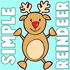 draw christmas reindeer preschoolers children