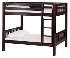 bunk bed with conversion kit mission style cappuccino