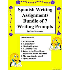 writing prompts bundle of 7 writing assignments