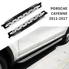 porsche cayenne running boards amazon com stainless steel side fit for porsche cayenne 2011