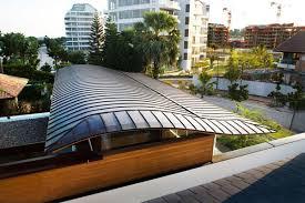 Eco Friendly Architecture Concept Ideas Villa Smart Living Space Roof Design Idea With Waving