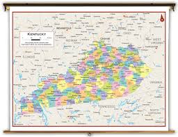 Virginia Political Map kentucky state political classroom map from academia maps