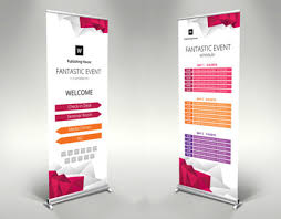 roll up banner template for illustrator themzy com on behance